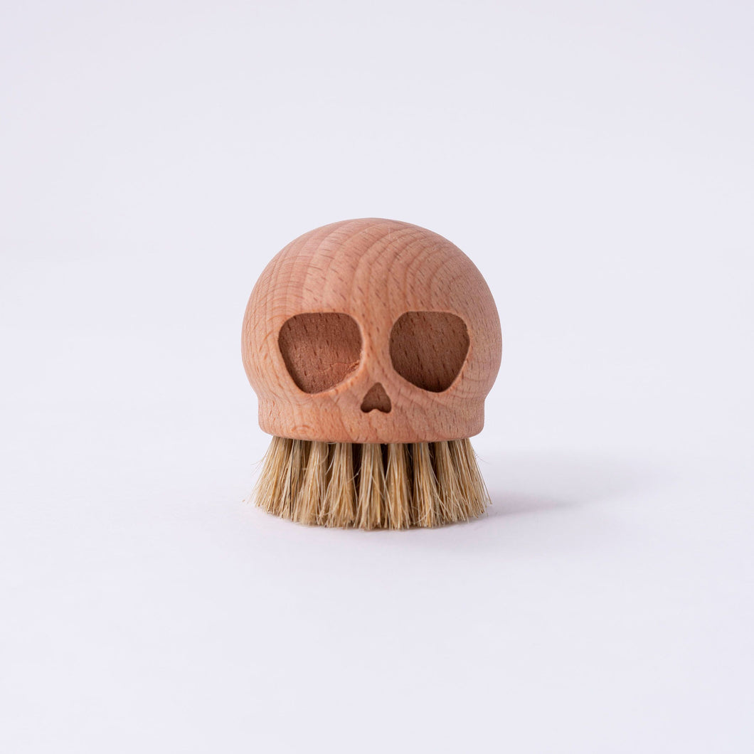 Wooden Skull Brush