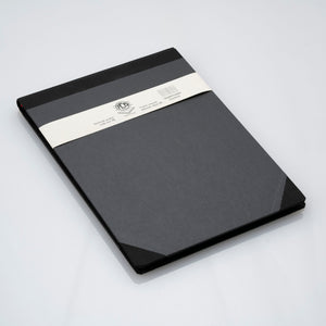 Emilio Braga Hardbound Leather Notebooks with Grid Pages