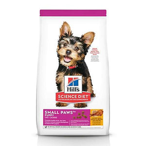 4.5# Science Diet Small Paws Chicken Meal, Barley & Brown Rice Dry Puppy Food