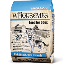 40# Wholesomes Sportmix Fish & Rice Dry Dog Food