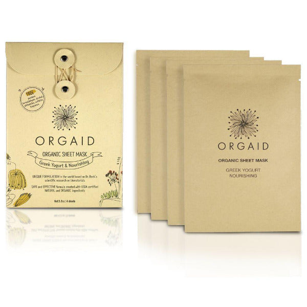 Orgaid Organic Sheet Mask - Greek Yoghurt And Nourishing