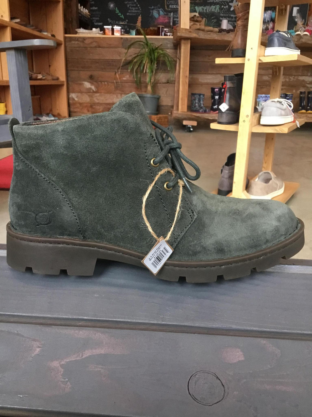 7.5 Boot Banni Bosco Suede Green