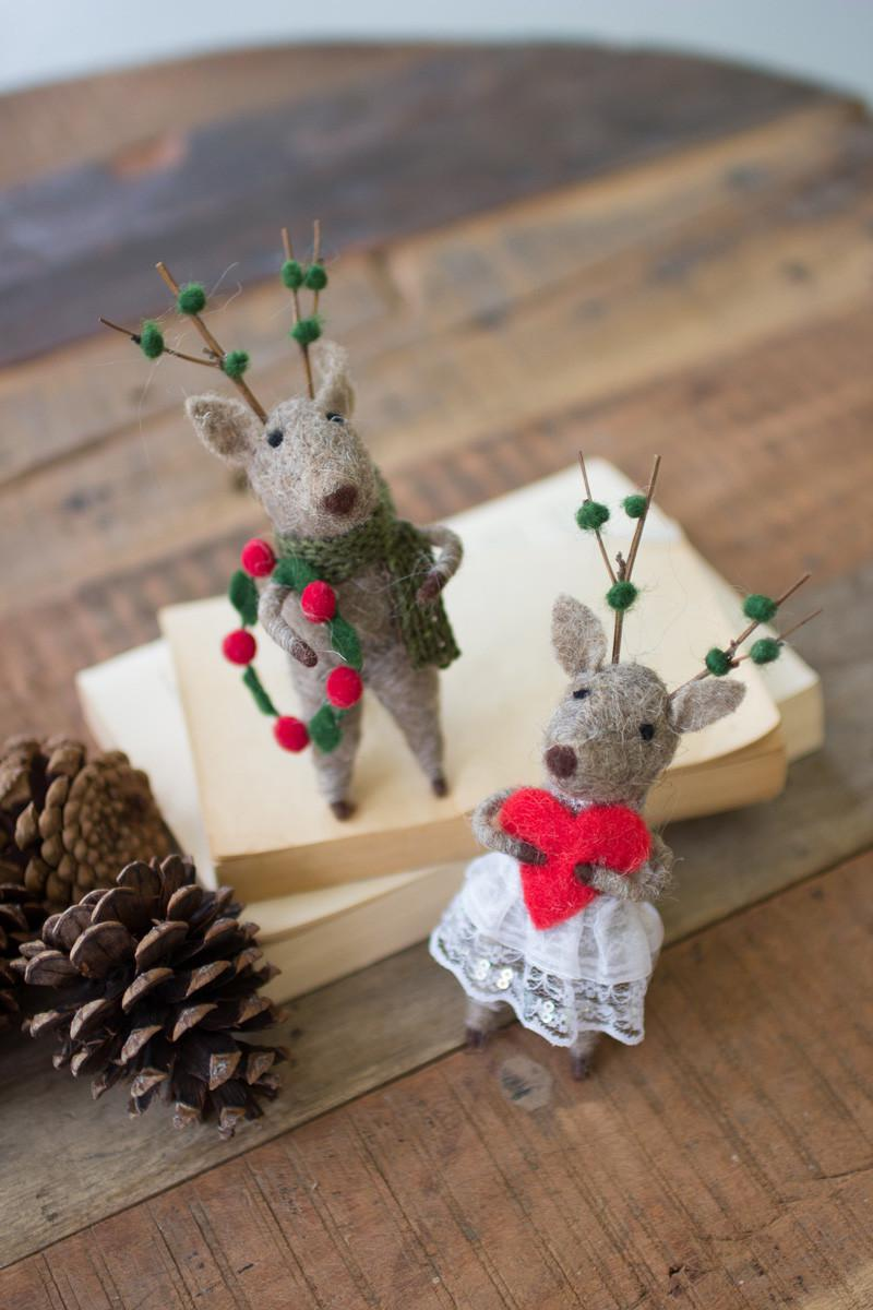 Felt Christmas Deer Mice