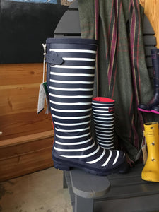 6 Rainboot Welly French Navy Stripe