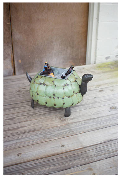 Recycled Metal Tortoise Cooler/Planter
