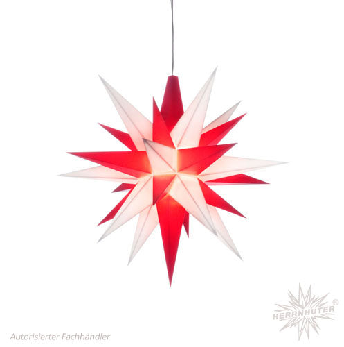 Herrnhut White/Red Mini Star, 13 cm.
