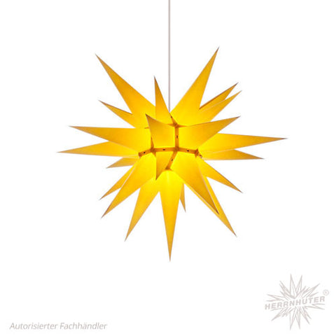 Herrnhut Yellow Paper Star, 60 cm. Indoor