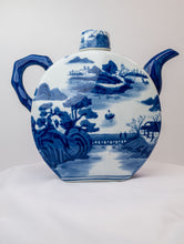 Load image into Gallery viewer, Blue and White Porcelain Teapot