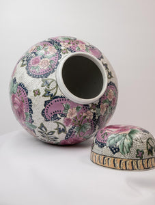 Ginger jar with floral pattern