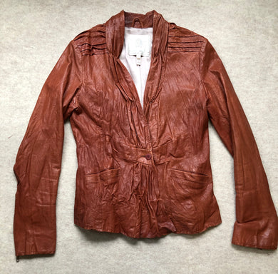 Burning Torch Leather Jacket xs/small