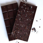 Load image into Gallery viewer, 64% - Murray Basin Salt Flake & Pepperberry Chocolate - Melbourne Bushfood