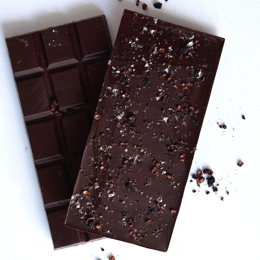 64% - Murray Basin Salt Flake & Pepperberry Chocolate - Melbourne Bushfood