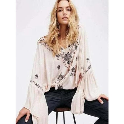 bohochicclothing Blouses & Shirts BOHEMIAN LOOSE FLARE SLEEVE BLOUSE boho  chic clothing