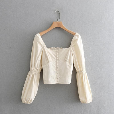 Court Square Blouse - Boho Chic Clothing