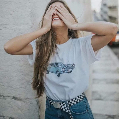 bohochicclothing Blouses & Shirts GRAPHIC PRINT CROP TOP SHIRTS boho  chic clothing