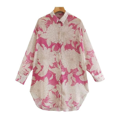 bohochicclothing Blouses & Shirts OVERSIZED FLORAL PRINT TOPS boho  chic clothing