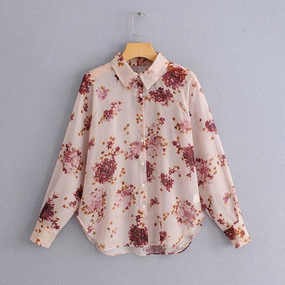 bohochicclothing Blouses & Shirts TRANSPARENT CHIFFON BLOUSE boho  chic clothing