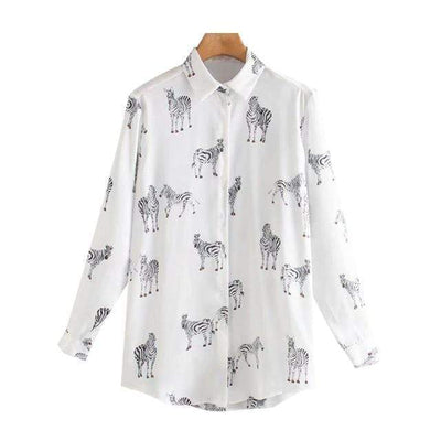 bohochicclothing Blouses & Shirts VINTAGE ANIMAL PRINT LOOSE BLOUSE boho  chic clothing