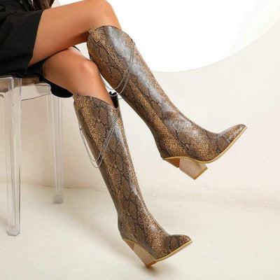 bohochicclothing CHAIN POINTED TOE BOOTS boho  chic clothing