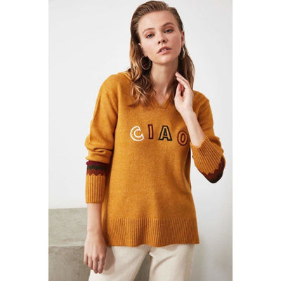 bohochicclothing Ciao Embroidered Sweater boho  chic clothing