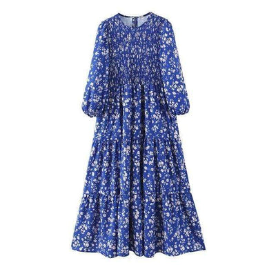 bohochicclothing dress SUMMER MIDI LONG SLEEVE DRESS boho  chic clothing