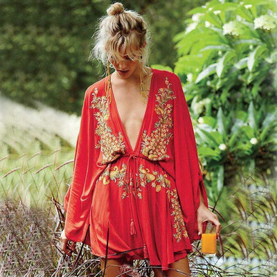 bohochicclothing Dresses BOHO MINI DRESS boho  chic clothing