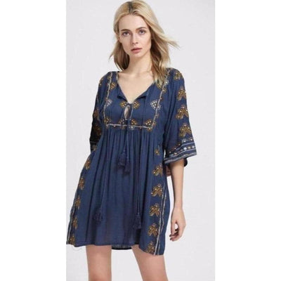 bohochicclothing Dresses FLORAL EMBROIDERED DRESS boho  chic clothing