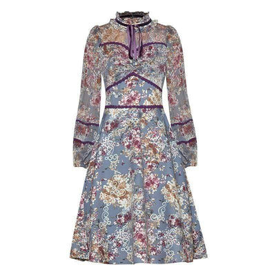bohochicclothing Dresses FLORAL PRINT VINTAGE DRESS boho  chic clothing