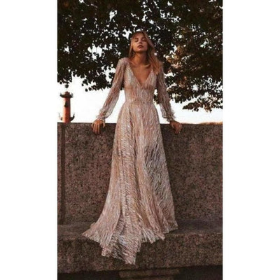 bohochicclothing Dresses FLORAL STRIP LONG DRESS boho  chic clothing