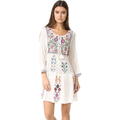 Floral Tassel Dress - Boho Chic Clothing