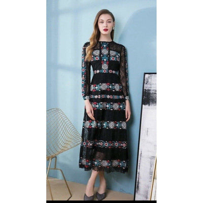 Vintage Embroidery Dress - Boho Chic Clothing