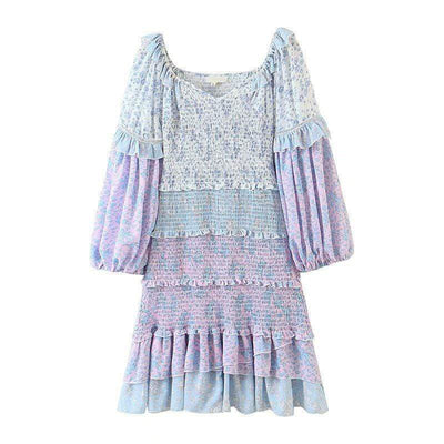bohochicclothing Dresses MULTICOLOR FLORAL PRINT DRESS boho  chic clothing