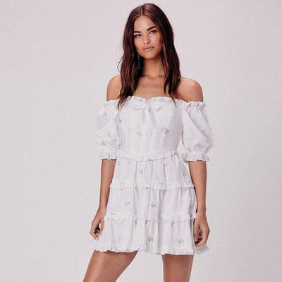 bohochicclothing Dresses OFF SHOULDER BACKLESS MINI DRESS boho  chic clothing