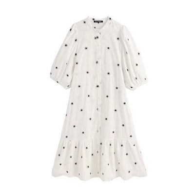 bohochicclothing Dresses PUFF SLEEVE MIDI DRESS boho  chic clothing