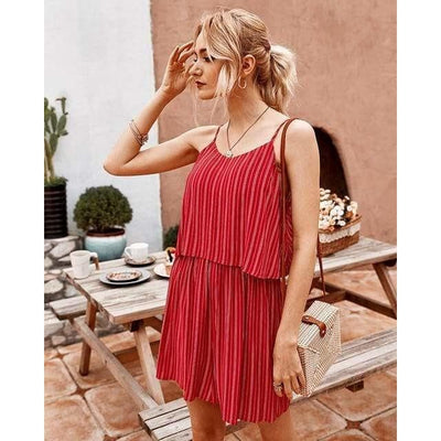 bohochicclothing Dresses STRIPED SPAGHETTI PLAYSUIT boho  chic clothing