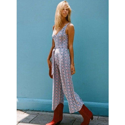 bohochicclothing Dresses V-NECK SLEEVELESS JUMPSUITS boho  chic clothing