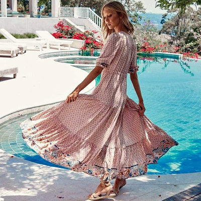 bohochicclothing Dresses VINTAGE ETHNIC MAXI DRESS boho  chic clothing