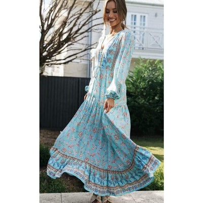 bohochicclothing Dresses VINTAGE FLORAL MAXI DRESS boho  chic clothing