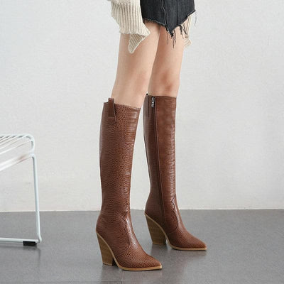 bohochicclothing FAUX LEATHER HIGH BOOTS boho  chic clothing