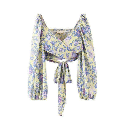 bohochicclothing Floral Wrap Boho Top boho  chic clothing