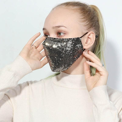 Sequin Mask - Boho Chic Clothing