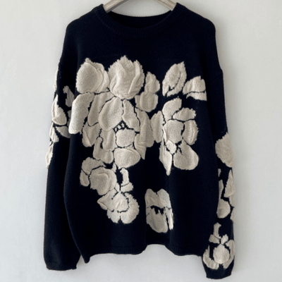 bohochicclothing Jackets AUTUMN FLORAL PRINT SWEATER boho  chic clothing