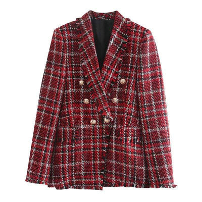 bohochicclothing Jackets ELEGANT TWEED TRIPLE BREASTED JACKETS boho  chic clothing