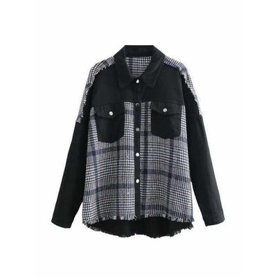 bohochicclothing Jackets PLAID PATCHWORK JACKET boho  chic clothing