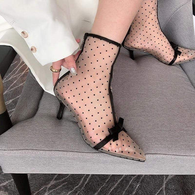 bohochicclothing MESH ANKLE BOOTS boho  chic clothing