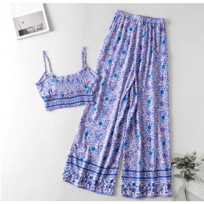 Two Piece Women's Boho Casual Outfits Set