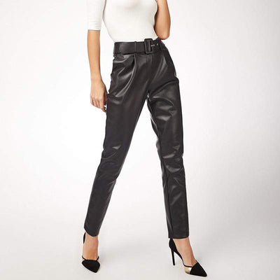 bohochicclothing Pants & Capris CHIC BLACK LEATHER PANTS boho  chic clothing