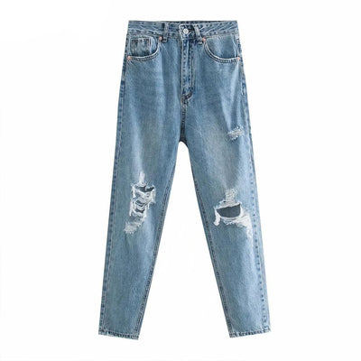 bohochicclothing Pants & Capris FADED RIPPED JEANS boho  chic clothing