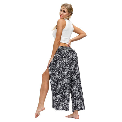 bohochicclothing Pants & Capris FLARED LOOSE TROUSERS boho  chic clothing