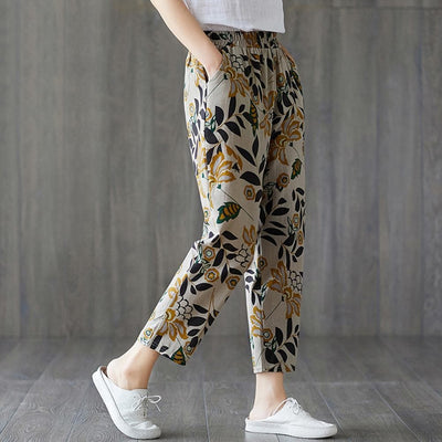 bohochicclothing Pants & Capris THIN POCKET FLORAL PRINT TROUSERS boho  chic clothing
